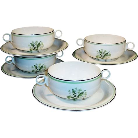 bowl swing homer laughlin swing cream soup bowl saucer sets sold on