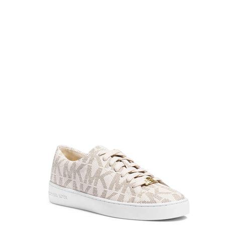 michael kors sneakers for lyst michael kors keaton logo sneaker in white