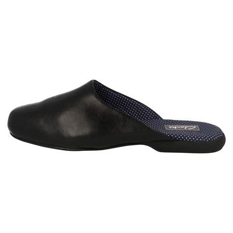 mens slide slippers mens clarks leather closed toe slip on mule slippers