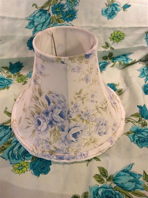 diy shabby chic l shades fabric cover with blue and
