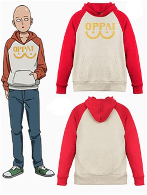 punch man saitama oppai hoodie sweatshirt cosplay