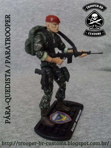 Hasbro Gi Joe Gijoe Cobra Paratrooper gi joe custom figures p 225 ra quedista do ex 233 rcito brasileiro i army paratrooper