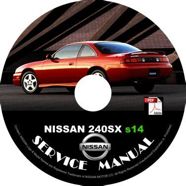 old car repair manuals 1997 nissan 240sx on board diagnostic system 1997 97 nissan 240sx s14 ka24de service repair shop manual on cd