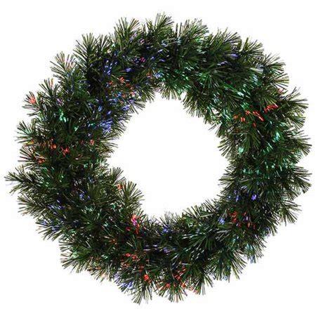 fiber optic christmas wreath 24 quot pre lit fiber optic artificial pine wreath multi lights walmart