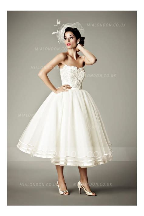 Retro Wedding Dresses Uk by Retro Style Wedding Dress Tea Length Discount Wedding