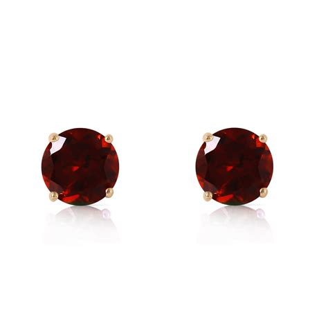 0 95 ctw 14k solid gold garnet stud earrings