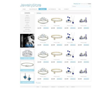 free ecommerce website template free online store