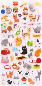 Cute Animal Mugs pet cat animal 3d sponge sticker book set by kamio animal