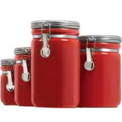 Kitchen Canisters Walmart by Anchor Hocking Ceramic Canister Set Walmart Com