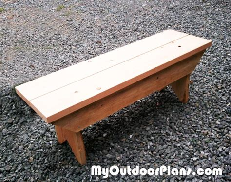 diy garden diy small bench myoutdoorplans