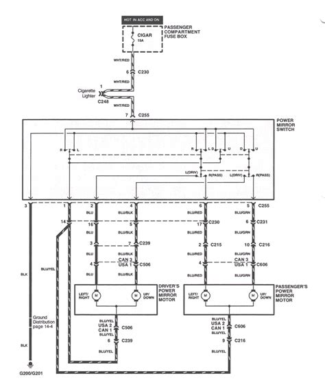 mirror diagram repair guides power door mirror wiring diagram