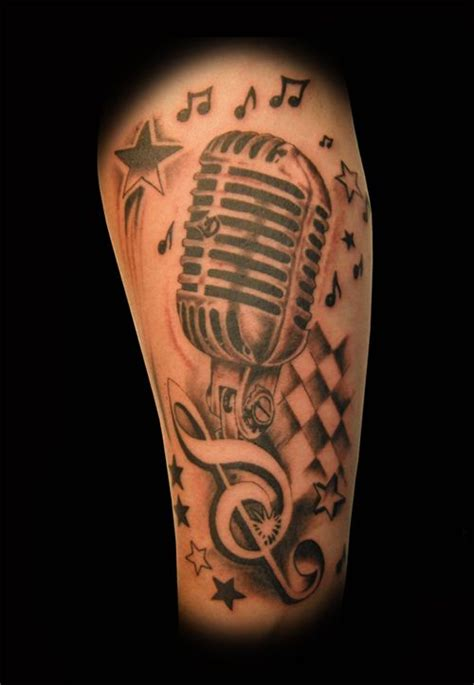 vintage microphone tattoo designs oldschool microphone designs search
