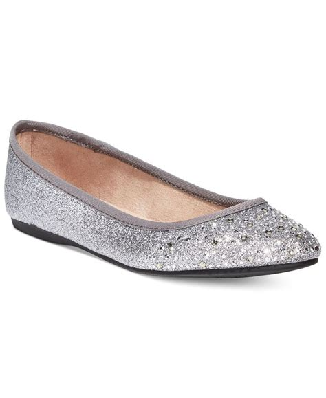 macys flat shoes style co angelynn flats only at macy s in metallic