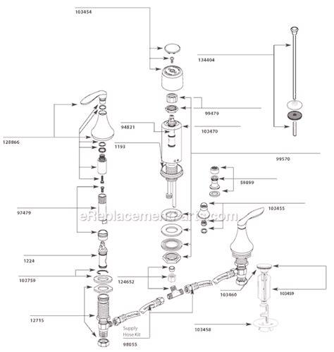 bidet plumbing diagram moen t5220 parts list and diagram ereplacementparts