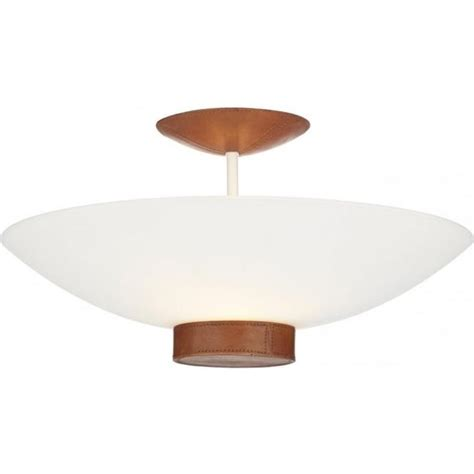 Lights For Low Ceilings Uk by Ceiling Light Tanned Leather Detail Saddler Uplighter For
