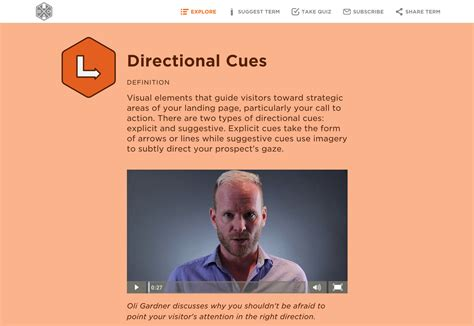 design cue meaning how directional cues maximize ux and boost conversions