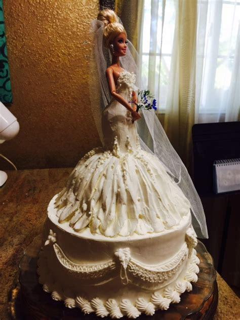 Frosted Art: Wedding Barbie Doll Cake  Cake Decorating
