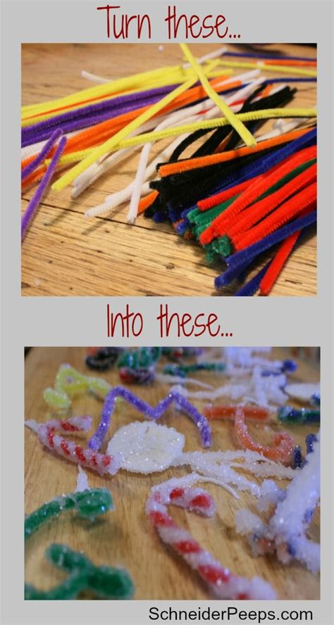 make pipe cleaners borax crystal ornaments frugal