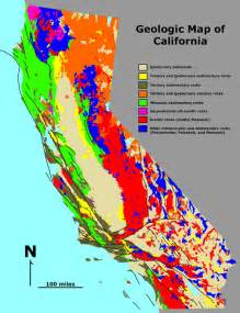 reading california map structural geology lab map reading