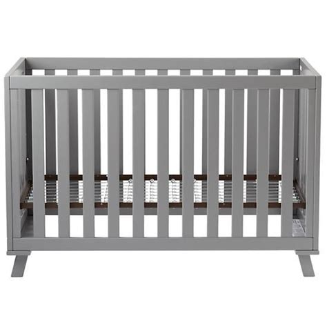 Modern Grey Crib low rise crib grey frame w grey base