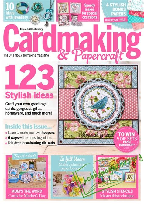 Cardmaking And Papercraft Free Downloads - cardmaking papercraft february 2015 187 hobby magazines