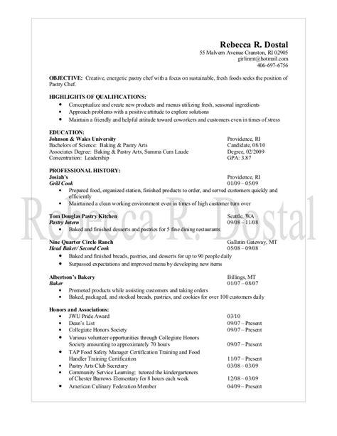 pastry chef description resume sle pastry chef resume resume ideas
