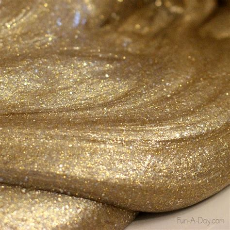 mixing gold and silver silver gold homemade slime for the new year