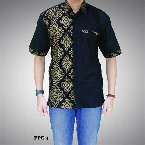 Set Kemeja 86 Warna Hitam kemeja batik pria kombinasi prada kode ppe 4 batik prasetyo