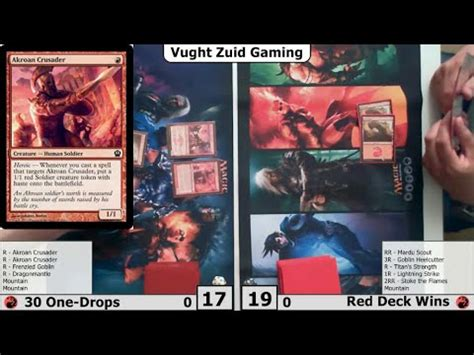 mono deck wins mtg dtk standard mono 30 one drops vs deck wins