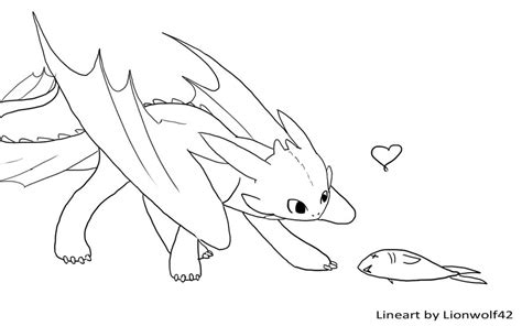 toothless line art by om nom nomnivore on deviantart
