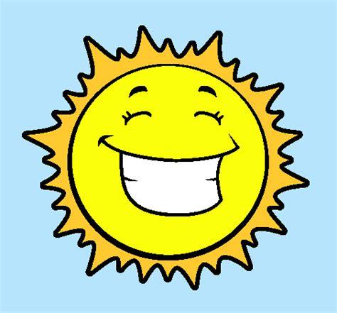 imagenes infantiles sol dibujo de sol sonriendo pintado por infantil en dibujos