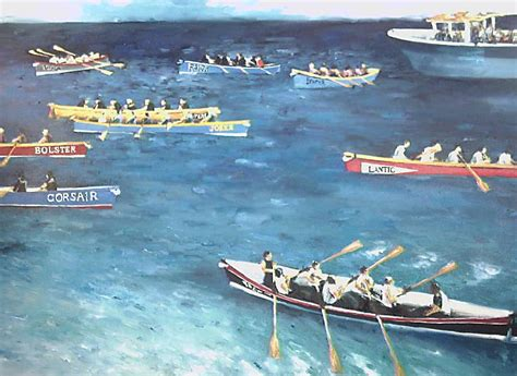 sculling boat canvas gig rowing paintings home