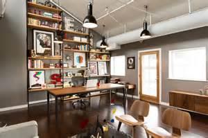 Studio Apartment Arrangement fusing mid century modern with vintage industrial style