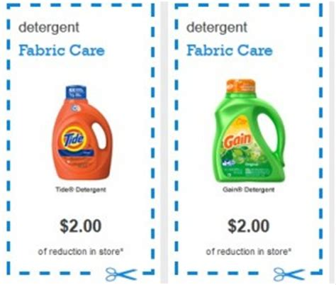 printable tide detergent coupons gain and tide laundry detergent 2 09 each at cvs starts 8 7