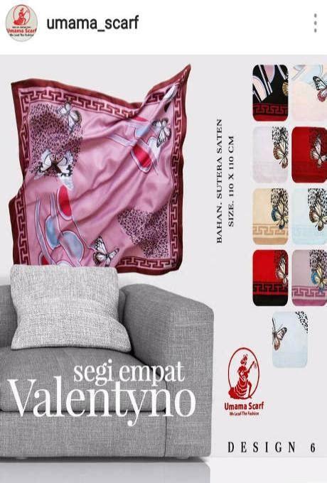 jilbab satin motif umama segi empat valentino umama