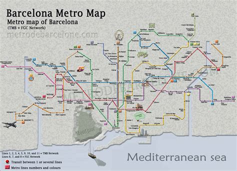 barcelona zone 1 map barcelona metro map the barcelona metro essential