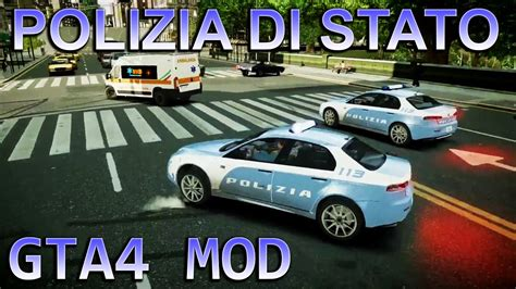 polizia di stato squadra volante gta iv mod squadra volante 113 polizia di stato italian
