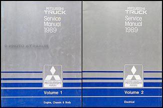 auto repair manual online 1989 mitsubishi truck electronic toll collection 1989 mitsubishi truck repair shop manual set original
