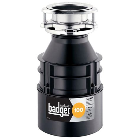 insinkerator badger 100 1 3 hp continuous feed garbage