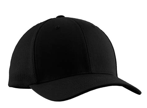 Baseball Hat Black port authority c812 baseball hat flexfit mesh back