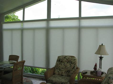 Sunroom Shades Sun Room Motorized Solar Shades Eclectic Roller Shades