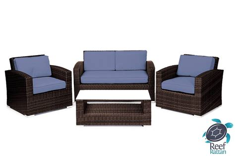 brown rattan sofa set patio furniture wicker conversation sofa set brown rattan