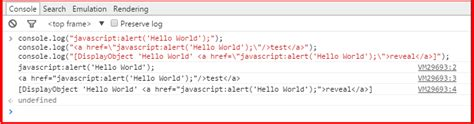 console log function how to create hyperlinks linked to javascript functions in