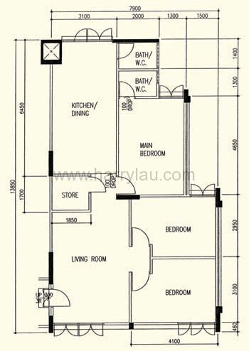 hdb flat floor plan 4 room hdb singapore real estate harry liu