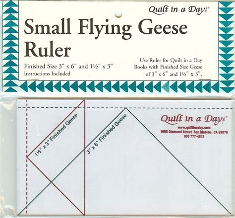 Quilt In A Day Ruler small flying geese ruler from quilt in a day ebay