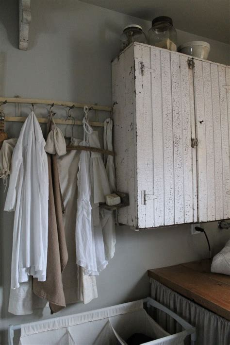 rustic laundry room country mudrooms pinterest laundry chalk painted white chippy shabby chic