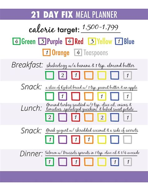 printable meal plan for 21 day fix 25 best ideas about meal planner printable on pinterest