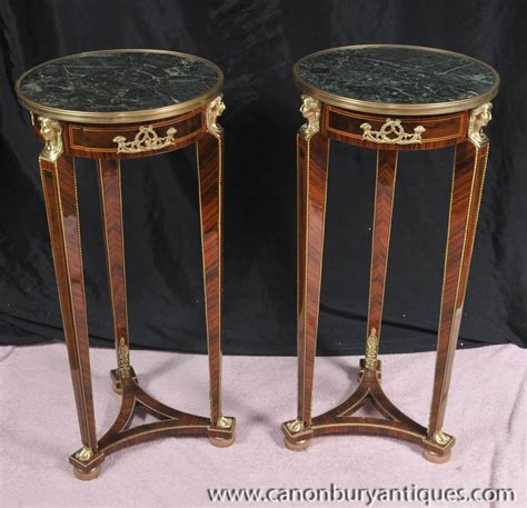 side table stand pair empire pedestal tables stands side table ebay