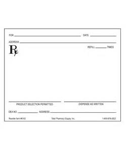 Blank Prescription Form Template by Prescription Blank Horizontal Layout Right Quot D A W