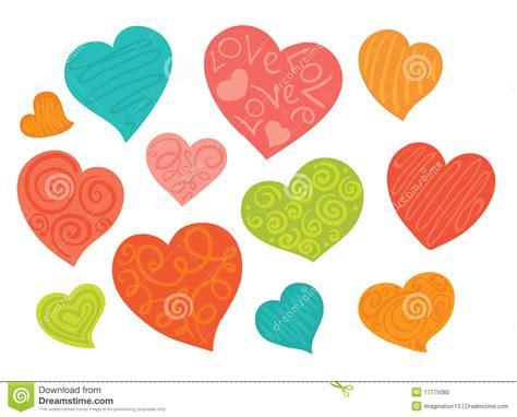 imagenes de corazones alegres un conjunto de corazones alegres foto de archivo imagen